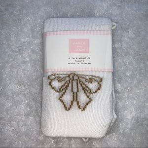 Janie and Jack Gold bow tights NWT 0-6 months